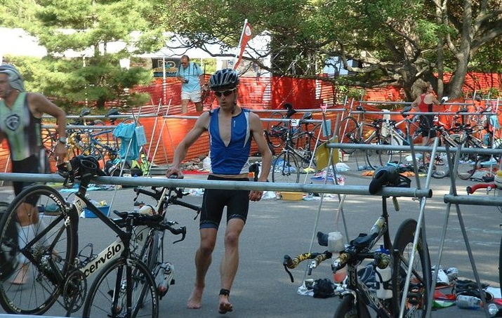 t2 bike to run triathlon transition