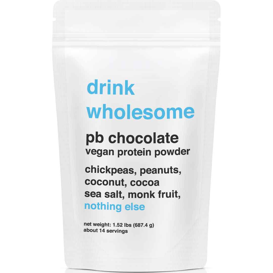 drink wholesome protein powder pb chocolate vegan review