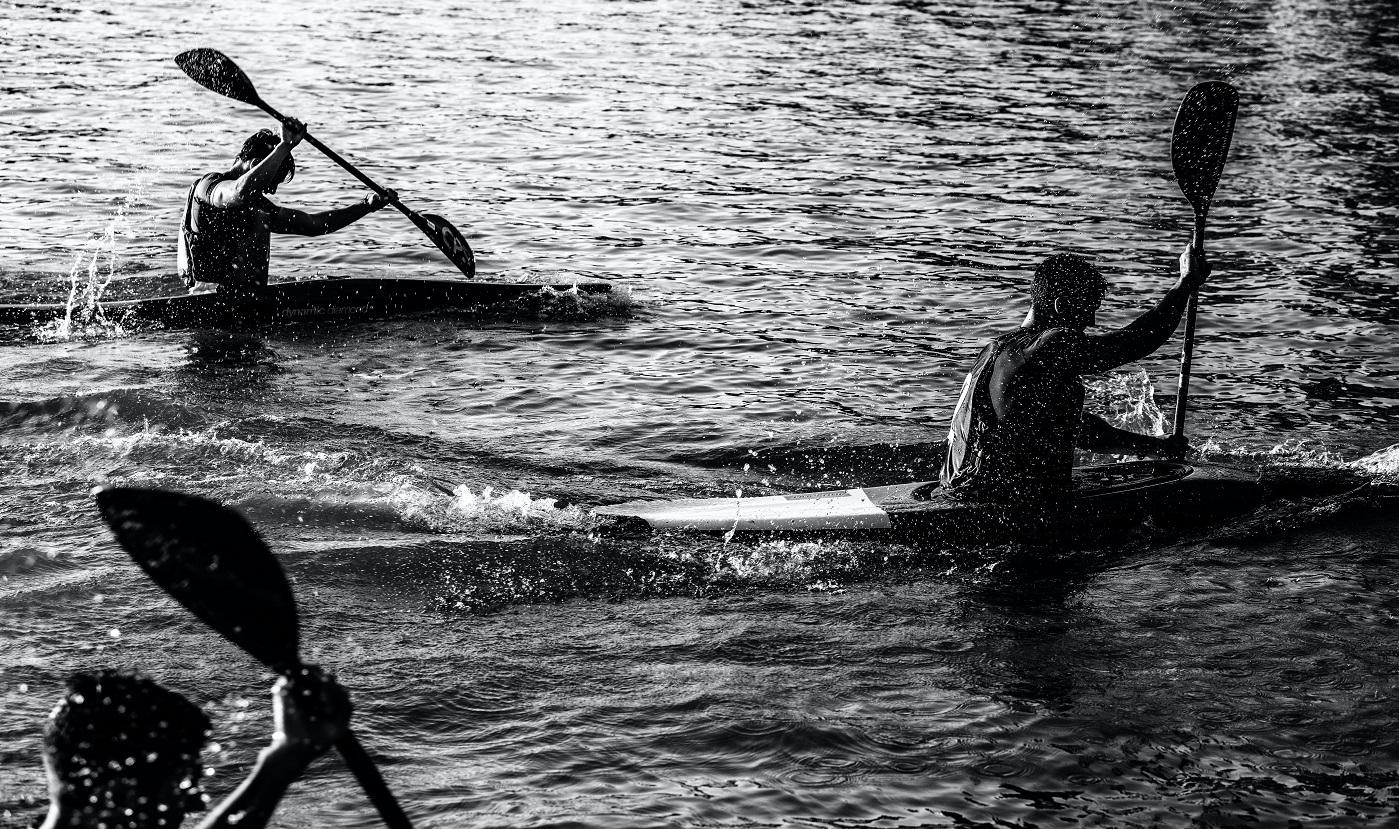 quadrathlon distances swim kayak run bike