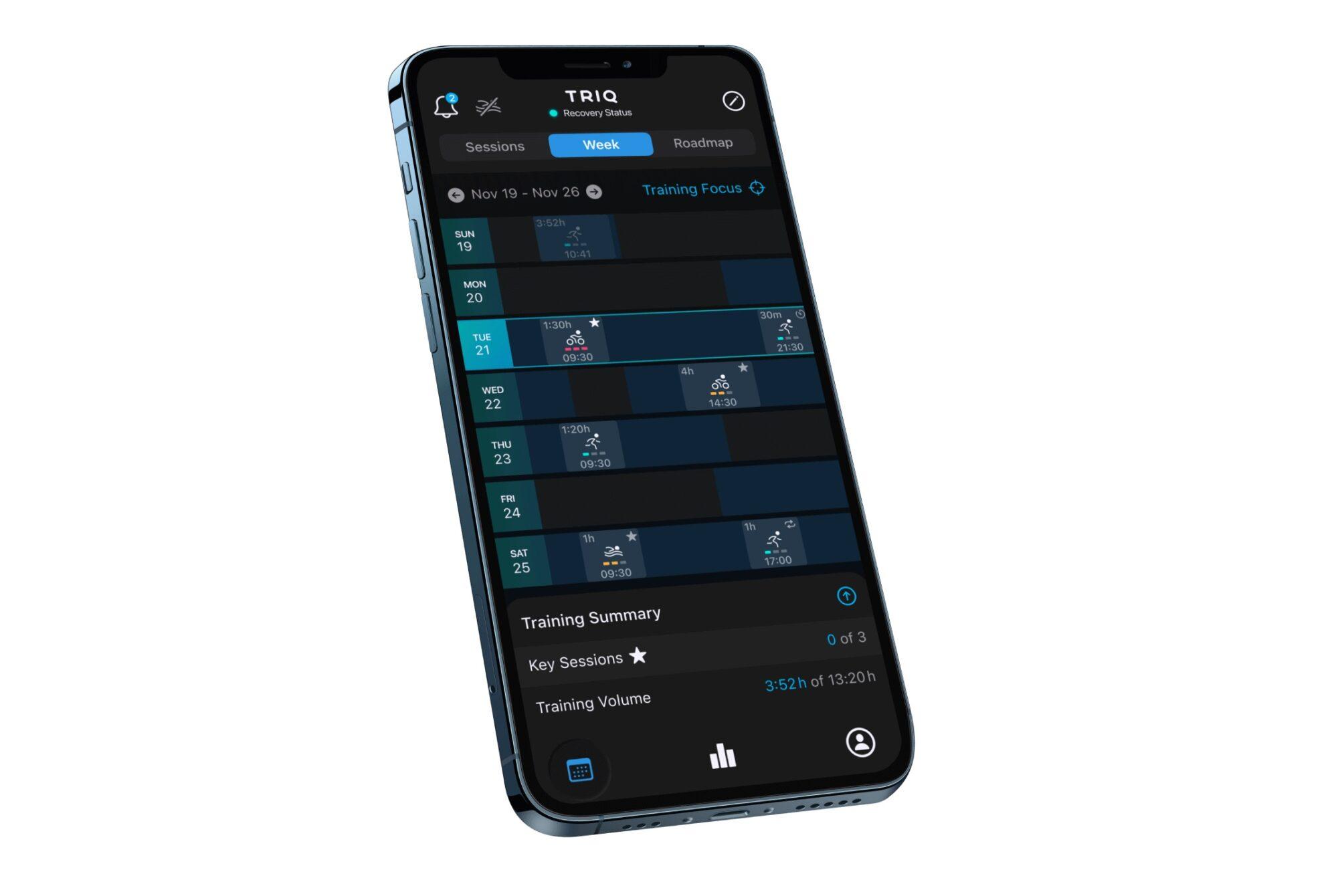 triathlon training app triq